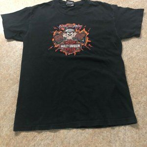 Boys Youth Harley Davidson Taz Orlando T-Shirt L.
